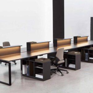 Черный стол для персонала DARKSIDE