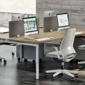 Офисный стол на металлокаркасе SINERGY