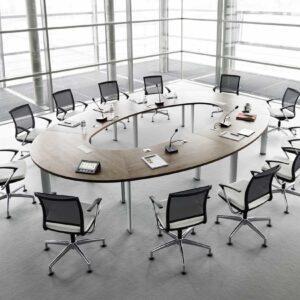 Овальный стол для переговорной PRESTIGE